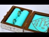 Чемоданчик для обручальных колец / DIY / Suitcase for engagement rings