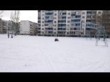 Николетта и Вероника на снегокате!!