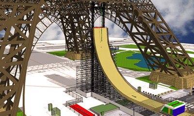 Прыжок с Эйфелевой башни на роликах - новый мировой рекорд!