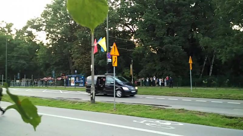 Papa Franciszek po drodze krzyżowej Błonia Kraków 2016 07 29