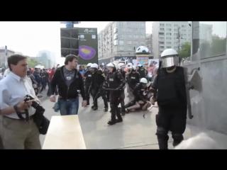 Русские фанаты бью поляков за русска курва