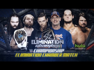 (WWEWM) Джон Сина пр. Эй Джей Стайлз пр. Брэй Уайатт пр. Дин Эмброуз пр. Бэрон Корбин пр. Миз (12.02.2017, Elimination Chamber)