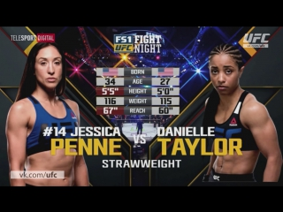 UFC Fight Night - 108 Джессика Пенне vs Даниэль Тейлор Хайлайт