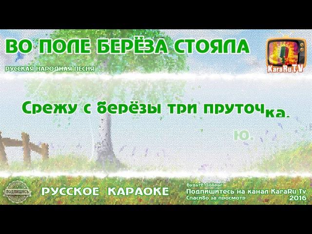 Караоке - Во поле береза стояла Русская Народная песня | Russian folk song KaraRuTv