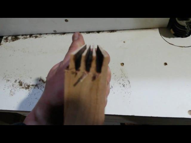 Продольное сращивание заготовок при помощи ручного фрезера