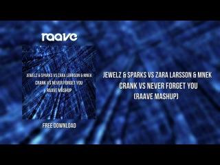 Jewelz Sparks vs Zara Larsson MNEK - Crank vs Never Forget You (Raave Mashup)