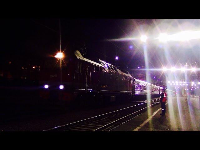 Электровоз ЭП2К-314 с поездом Мордовия
