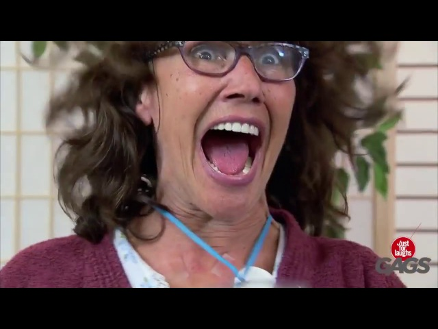 Woman Gets Intense Over Massage - Just For Laugh Gags 2017