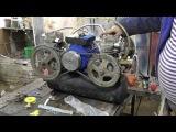 Компрессор ЗИЛ 130 в гараже. Мотор потянул только один компрессор.