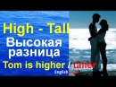 Лексика английского языка Уроки английского языка High tall Tom is higher taller