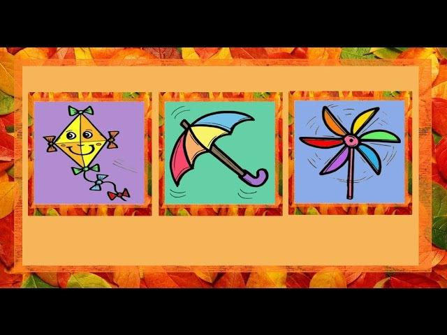 Deutsch lernen: der Herbst (Spiel - game - jeu de Kim)