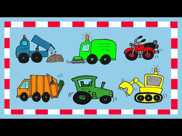 Deutsch lernen: Fahrzeuge 2 (Spiel - game - jeu de Kim)