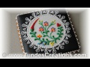 Hungarian folk art cookies, black 4