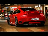 Porsche 991 Techart Turbo S - Flames and LOUD Pops & Bangs !