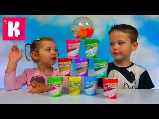 Жвачка Челлендж угадываем вкус жвачек в коробочках Ice Cube Jewing Gum Kid's Challenge Miss Katy