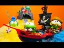 Hazine oyunu Om Nom korsan hazine sandığı arıyor Macera oyunları Çizgi filmi karakterleri
