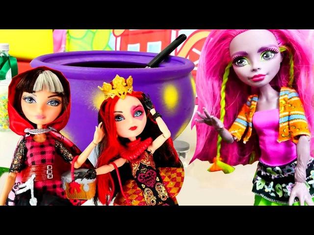 Monster High Marisol YAMYAM! Zehirli mama yapıp bebek oyuncaklara yedirdi! Cadı Kazanı Oyna