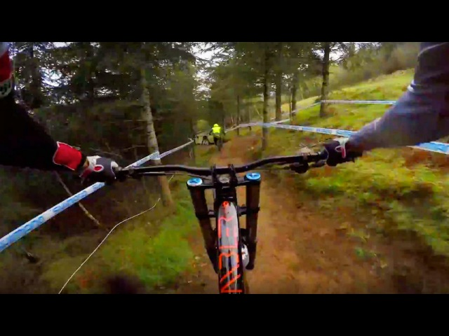 Claudio Caluori's Muddy GoPro Course Preview in France | UCI Mountain Bike World Cup 2016