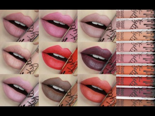 KYLIE LIP KITS | SWATCHES EXACT DUPES FOR ALL 9 MATTE SHADES!!