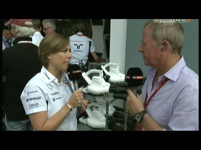 Claire Williams talking about Felipe's retirement in the Monza pitlane
