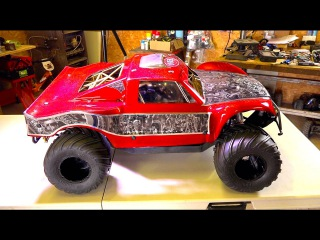 RC ADVENTURES - We went too far!! OBR 46cc 12hp Gas Engine w/ Silenced Pipe in 4x4 Concept Truck