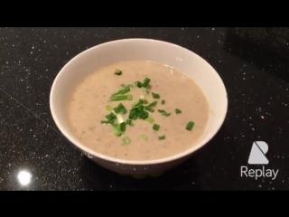 Суп пюре из цветной капусты и шампиньонов