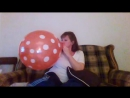 SugarSweetz - Balloon Blow to POP - Red Polka Dot Balloon