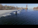 wakeboarding in early spring_voronezh_russia
