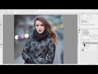 CC 2015 - Как создать снег в Photoshop