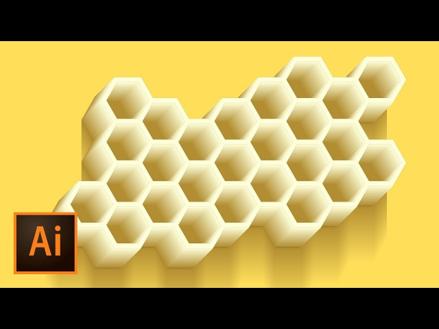Honeycomb Vector Illustration - Illustrator Tutorial