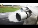 INCREDIBLE!! Boeing 747-400 MEGA SPLASH during thrust reverse - EVA Air Taipei Landing! AirClips