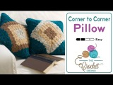How to Crochet A Pillow Corner to Corner C2C