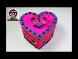how to make heart shaped box DIY  gift box storage box Art with creativity