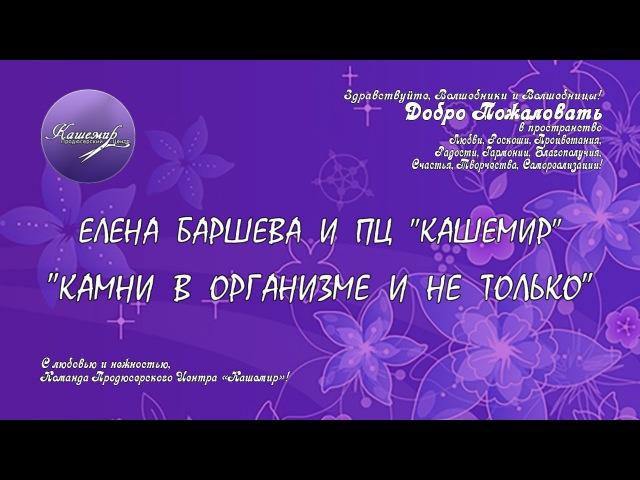 Елена Баршева Камни в организме и не только 2015 10 20