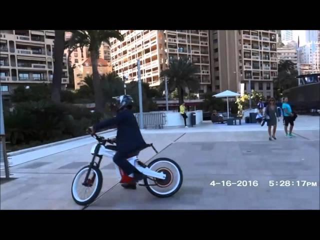 Тест мощнейшего мотор колеса Дуюнова из России на выставке в Монако | 17 апреля