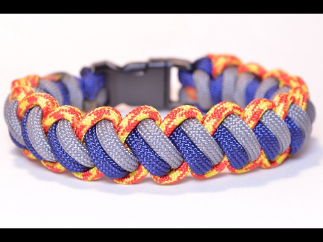 Make the Modified Curling Millipede Paracord Survival Bracelet - BoredParacord