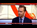 Tom Hiddleston on BBC News talking about his visit to South Sudan