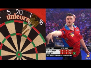 Michael van Gerwen v Daryl Gurney (PDC World Darts Championship 2017 / Quarter Final)