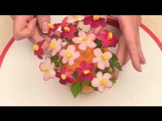 Карвинг для начинающих ВАЗА ИЗ АПЕЛЬСИНА Украшение стола из фруктов и овощей