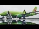 Посадка в аэропорту Большое Савино/Пермь Airbus A319-112