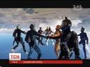 1Plus1 News Ukrainian skydiving 12 way head down record