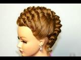 Elegant updo. Hairstyle for medium long hair.