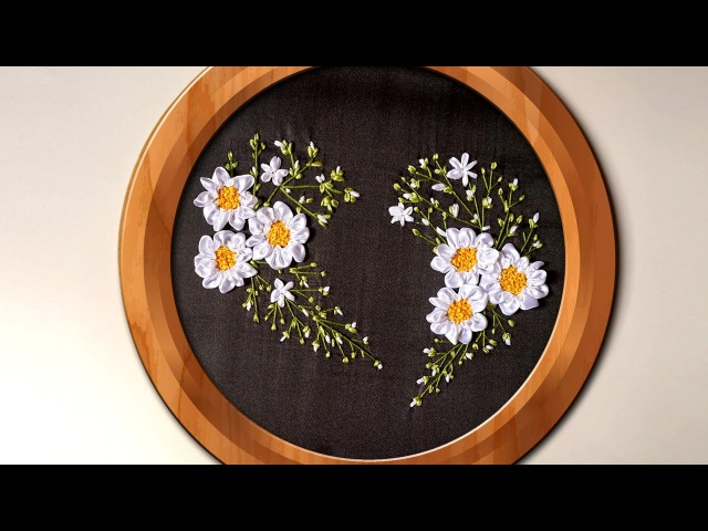 Hand Embroidery | Ribbon Heart Wall Decorating Ideas | HandiWorks 94