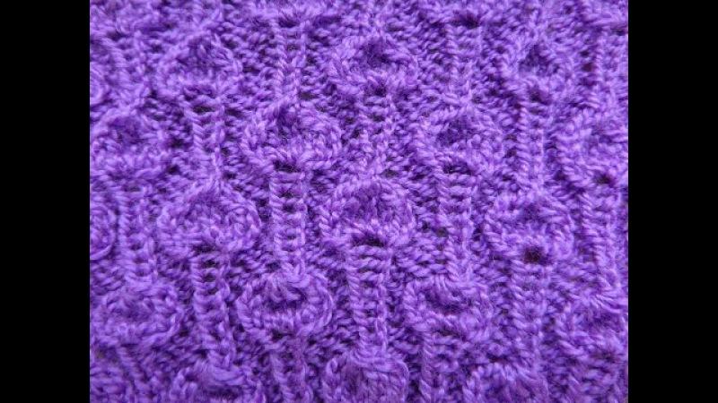 Узор Шишечки. Вязание спицами. Knitting(Hobby).