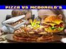 Пицца против бургер/Pizza VS Burger PIZZA INSIDE A BURGER INSIDE A PIZZA еда своими руками рецепты