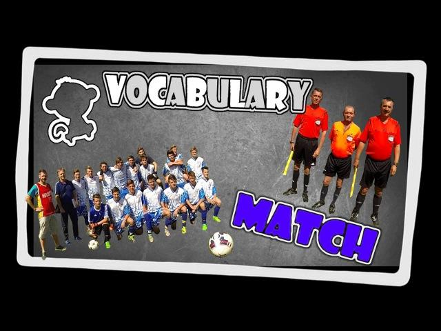 Football match - english vocabulary