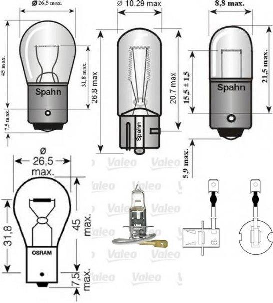 Лампа накаливания, основная фара; Лампа накаливания для AUDI V8 (44_, 4C_)