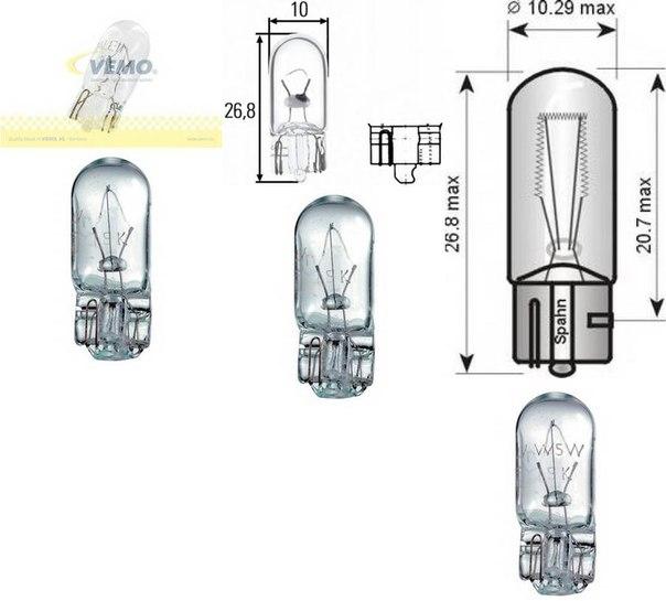 Лампа накаливания, внутренее освещение; Лампа накаливания, освещение щитка приборов для AUDI V8 (44_, 4C_)