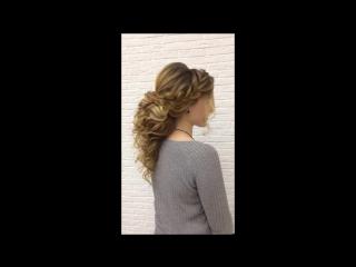 Причёска - Оксана Гущина. Греческая коса для Ганны