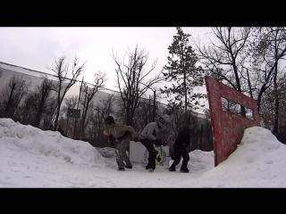 турнир по спрот пейнтболу три на три зимой пейнтбольный клуб скорпион 15